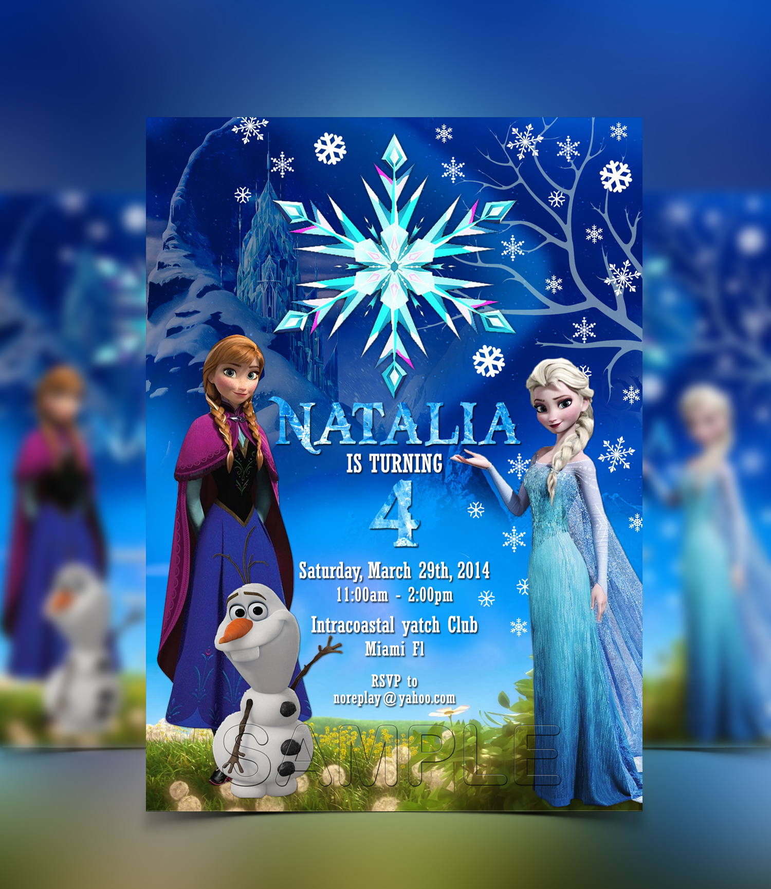 Disney Frozen Invitation