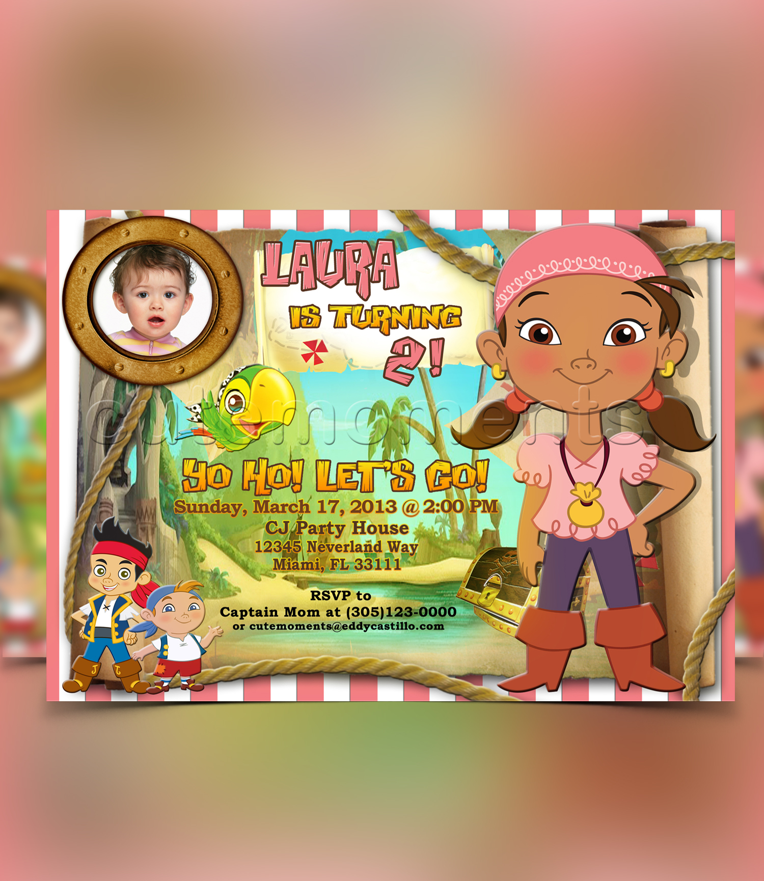 Izzy and the NeverLand Invitation