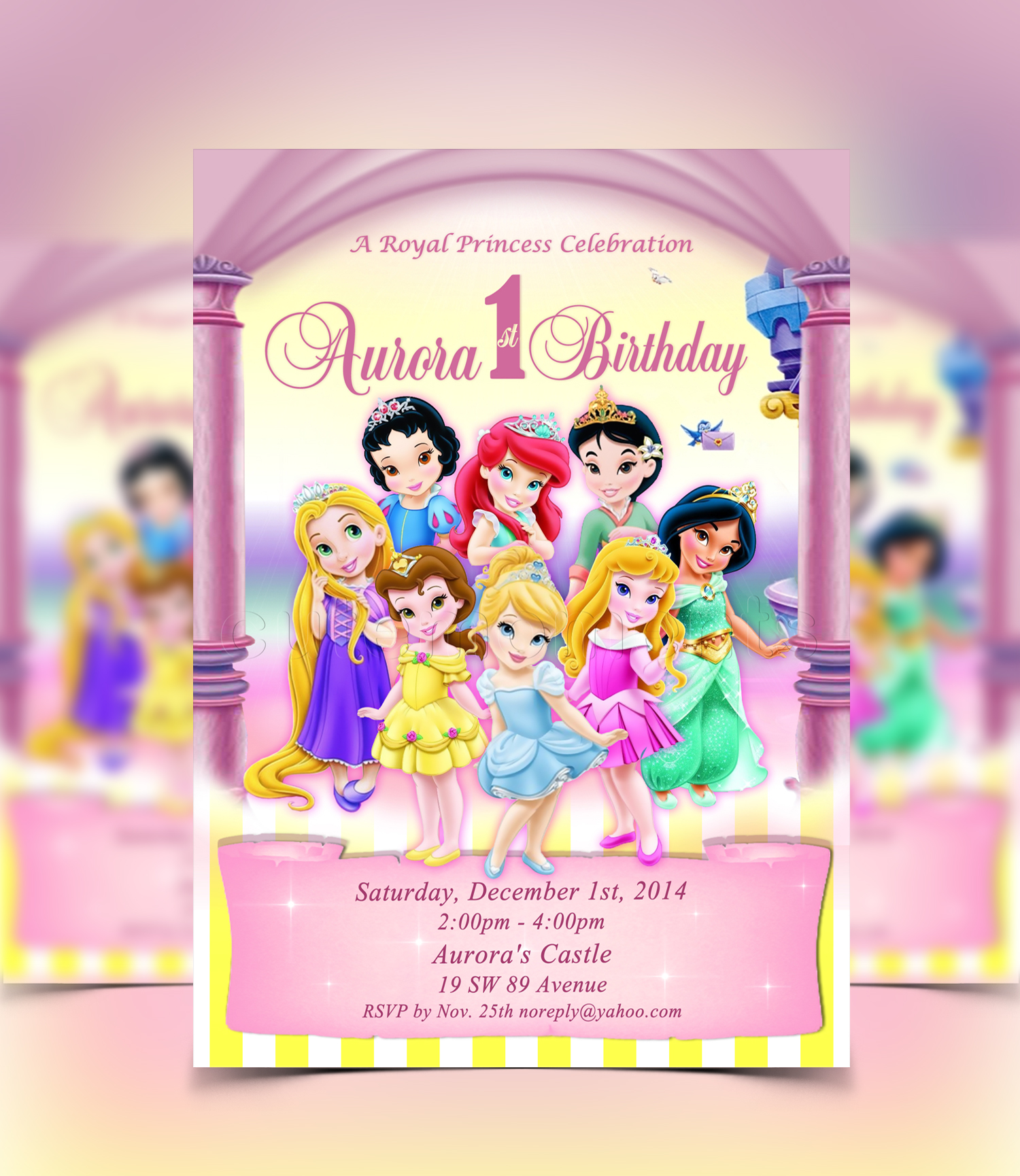 1St Birthday Princess Invitation with great invitation example